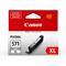 Canon CLI-571GYXL Gray Original High Capacity Ink Cartridge