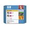 HP 70 Magenta Ink OriginalCartridge(Twin Pack) (CB344A)