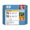 HP 70Light Magenta Original Ink Cartridge(Twin Pack) (CB346A)