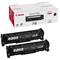 Canon 718 Black Original Toner Cartridge Twin Pack (2662B005AA)
