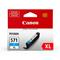 Canon CLI-571CXL Cyan Original High Capacity Ink Cartridge