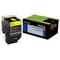 Lexmark 702HY Original Yellow High Capacity Return Program Toner Cartridge (70C2HY0)